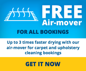 FREE Air-mover with carpet and upholstery cleaning